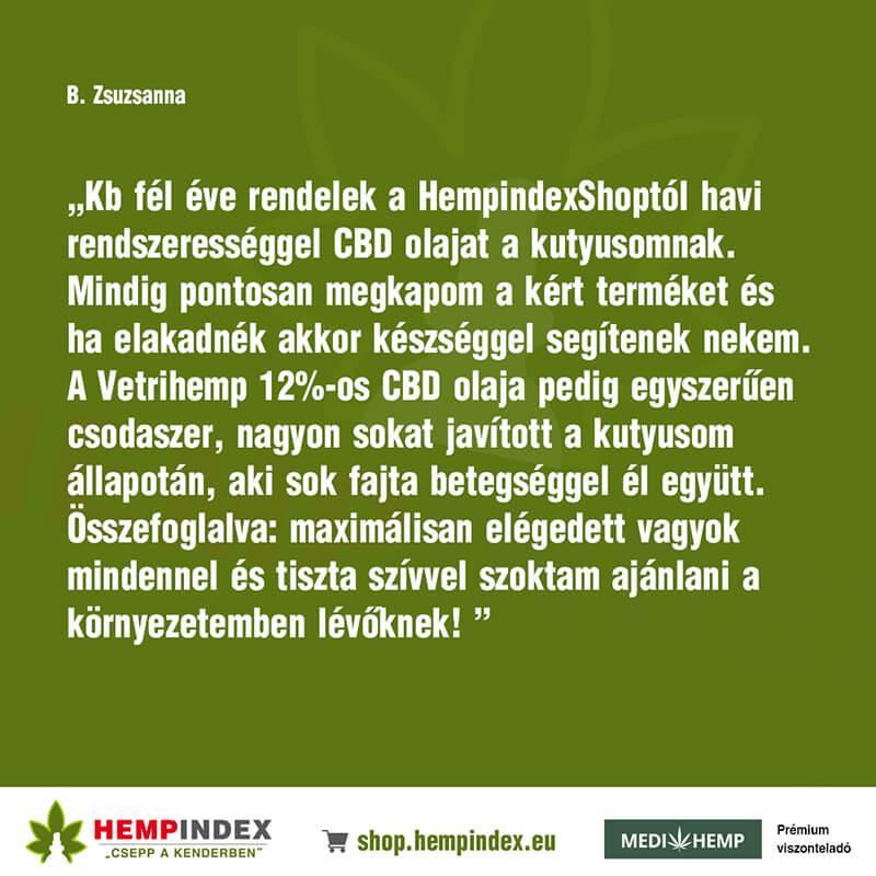 B. Zsuzsanna véleménye a Medihemp CBD olajokról!
