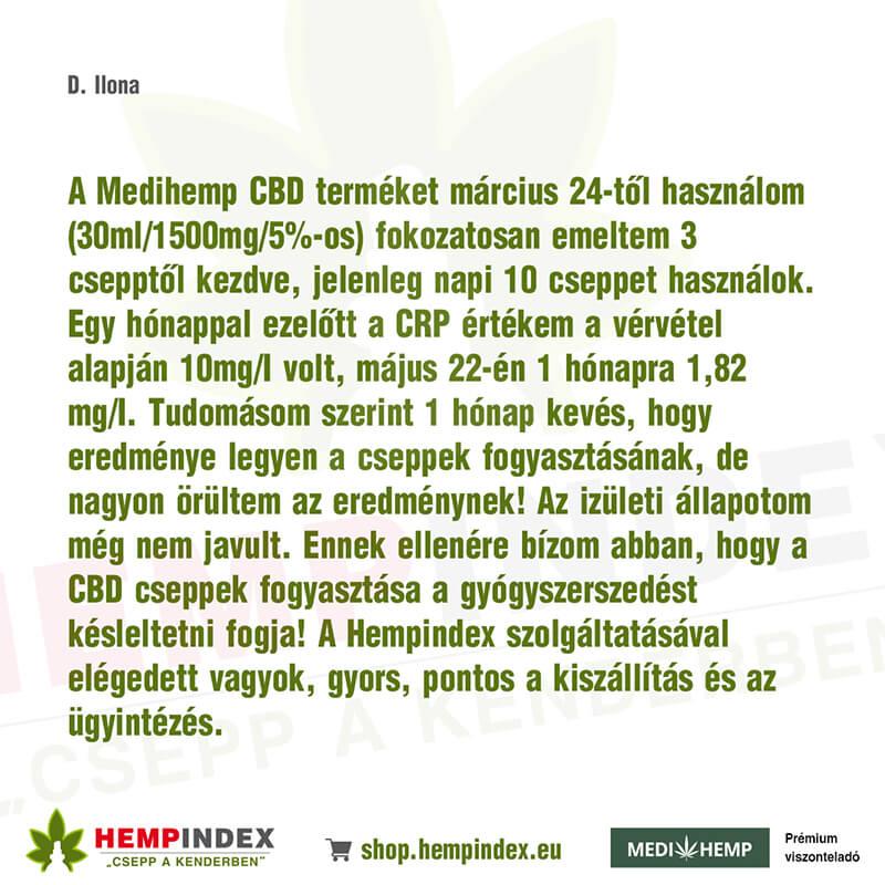 D. Ilona véleménye a Medihemp CBD olajokról!
