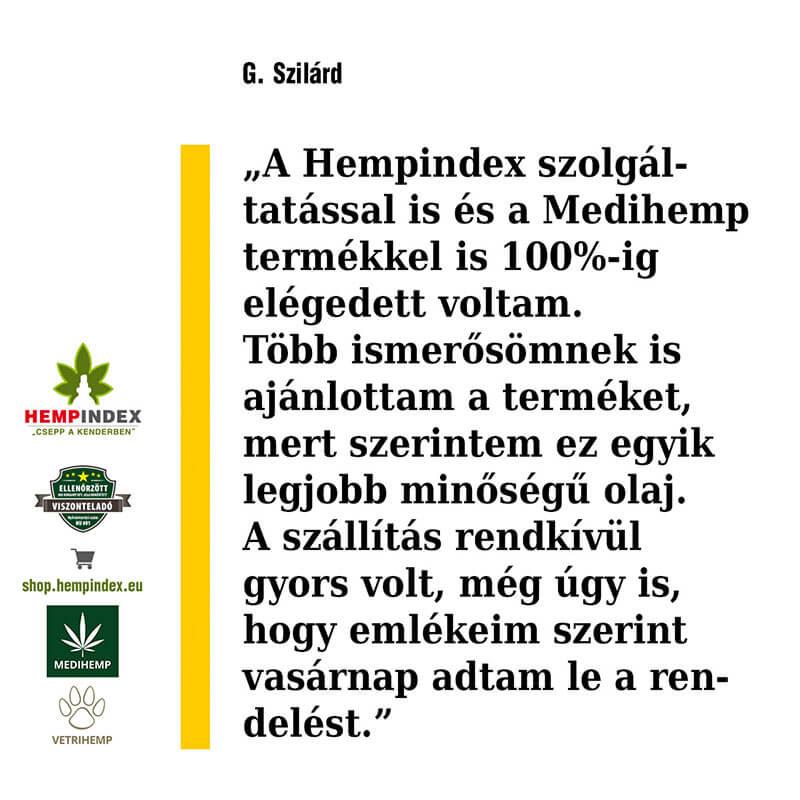 G. Szilárd véleménye a Medihemp CBD olajokról!