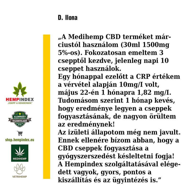 D. Ilona 5%-os 30ml-es CBD olajat használ!