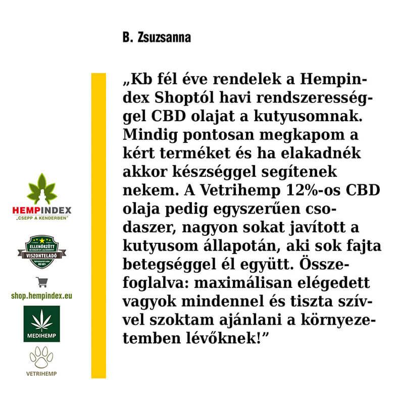 B. Zsuzsanna véleménye a Vetrihemp 12%-os olajról!