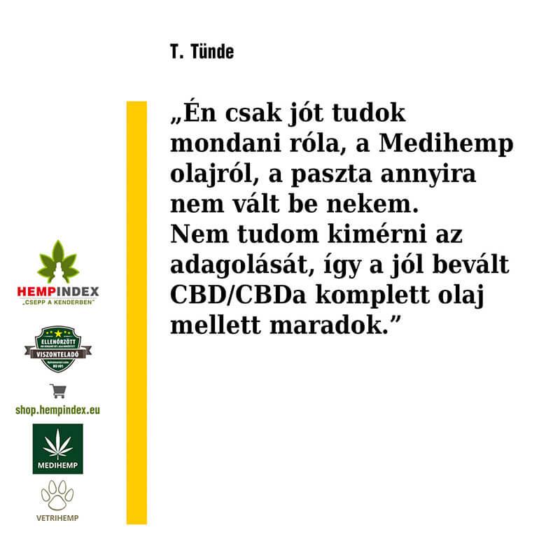 T. Tünde tapasztalata Medihemp termékekről!