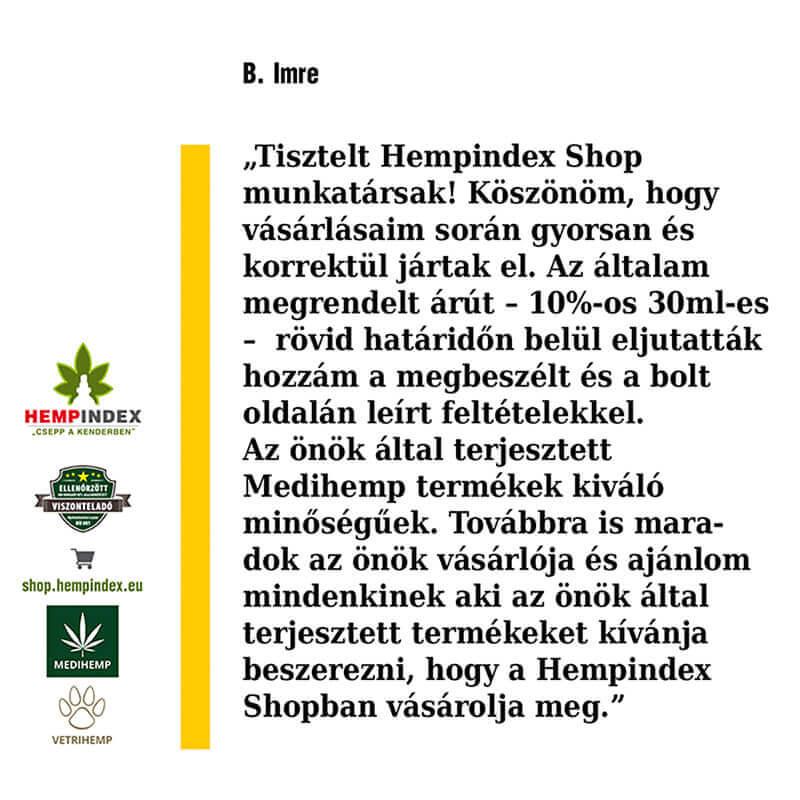 Imre véleménye Medihemp 10%-os CBD olajról!
