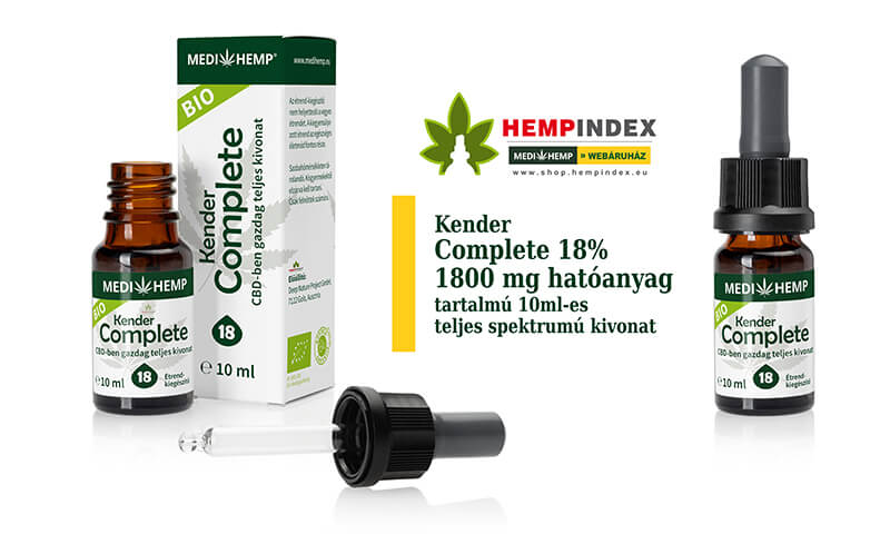 18% Medihemp Complete CBD olaj (1800mg) 10ml-es   Hempindex Shop